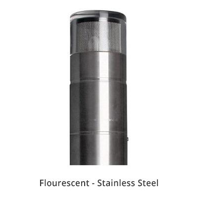 Bollard 700mm surface flange mount
